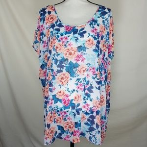 TORRID Floral Sheer Top, Size 3